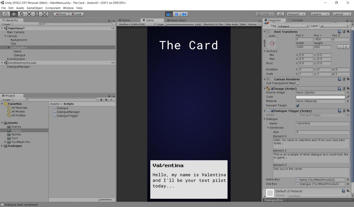 dialogue prototype